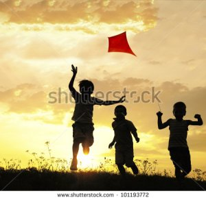 Kids and Kites Photo from Shutterstock
